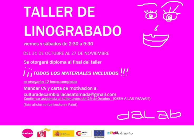 taller de linograbado - DALAB - LCT